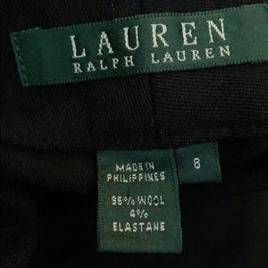 Ralph Lauren black slacks wool